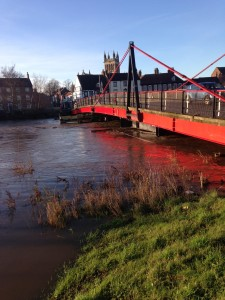Picture of Selby toll bridge before it was closed for three days. Photo courtesy of Clarke Roberts.
